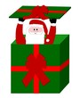 weihnachtsmann im geschenk