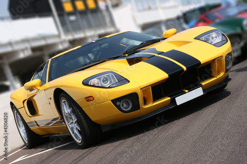Super car at race circuit