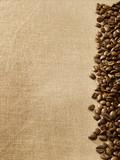 Fototapeta Ziarna kawy na płótnie