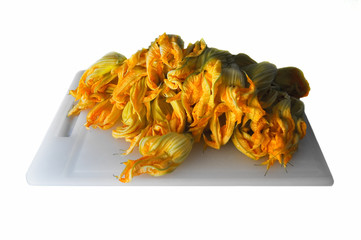 Zucchini (courgettes) flowers