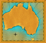 Antique looking map of Australia poster