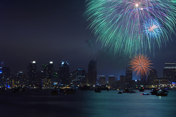 Fireworks over San Diego