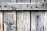 old wood plank with rust nail poster