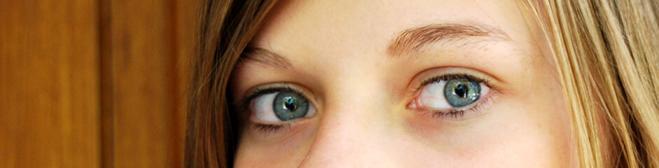 Banière regard bleu