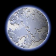 Blue planet illustration