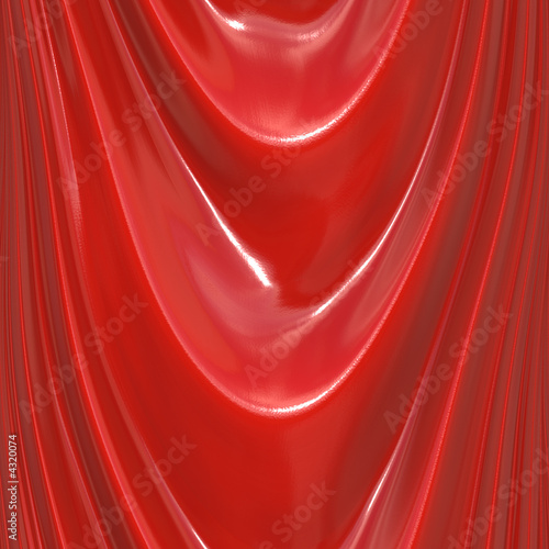 poster of Rendered silky red material