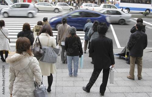 Leinwandbild Motiv Pedestrian crossing