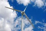 Wind energy turbine. Alternative clean energy. poster