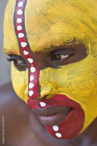 Fototapeten,portrait,tribal,afrikanisch,malen