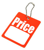 price tag with copy space poster