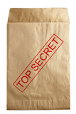 envelope for documents with top secret stamp poster