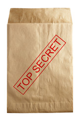 envelope for documents with top secret stamp
