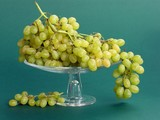 clusters of light sweet grapes poster