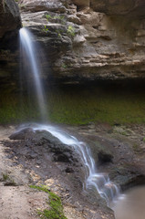 small blurred waterfall