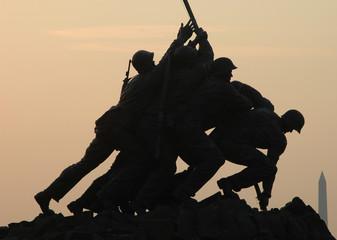 Dawn at Iwo Jima in Arlington near Washington DC