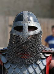 Medieval Knight in armor.