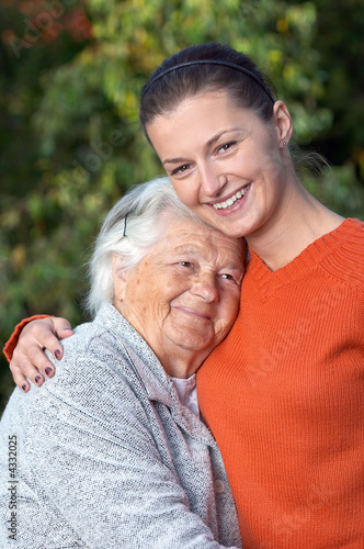 Senior and young woman