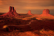 Three mitten buttes, Monument Valley, Utah