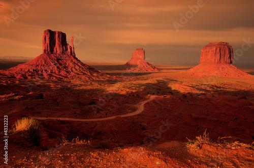 Three mitten buttes, Monument Valley, Utah - 4332223