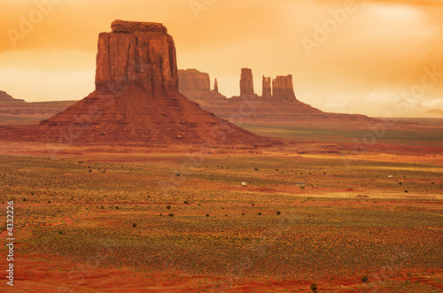 Vast landscape at Monument valley - 4332226