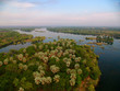 Birds eye view - Zambezi river near Victoria Falls