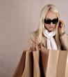 shopping euphoria. shopping woman with bags