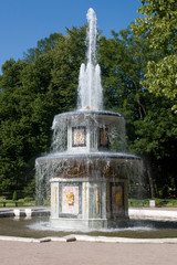 Fountain at the Peterhof Palace.