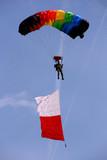 Rainbow parachute poster