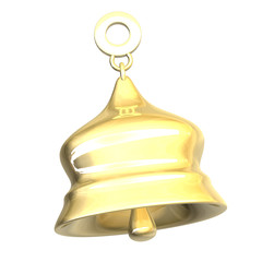 campanella in oro - golden bell - 3d