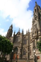 portico de catedral de arucas en gran canaria