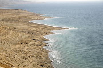 arid coastline by red sea israel