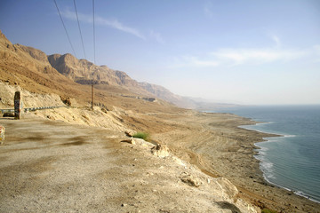 dead sea coastline in israel