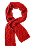 Wool red scarf poster