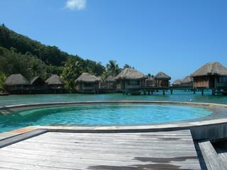 bora bora piscina polinesia mare panorama