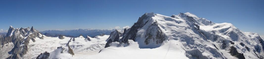Panoramique Mont Blanc et sommets