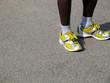 Pieds de couteur de marathon