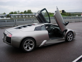 Lamborghini Mercialago Gull Wing Doors rear nearside view