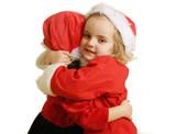 Santa helpers - hug poster