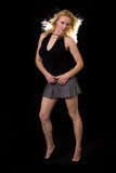 Woman in mini skirt poster
