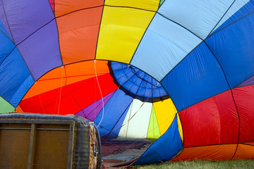hot air baloon on the ground