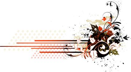 Floral banner. Vector illustration