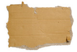 Torn cardboard poster