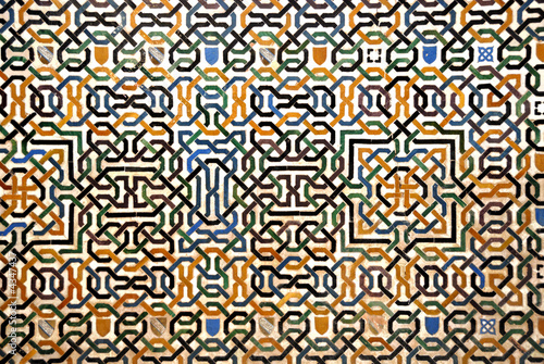 Mosaic wall at the Alhambra in Granada Spain