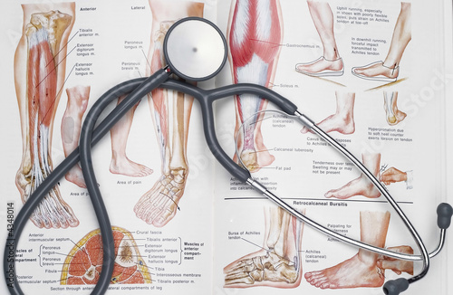 poster of Stethoscope on a medical book