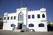 white castle police station in dahab, red sea, sinai, egypt