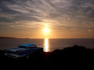 vintage 1950s American car