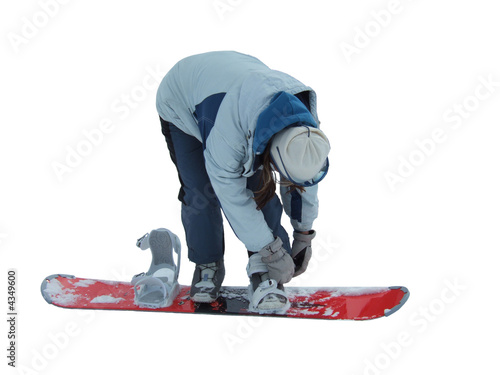 How to wear snowboard (isolated)