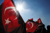 Turkish flags and Nationalism poster