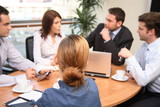 Fototapety building strategy - business peole meeting
