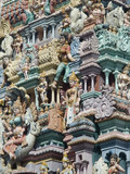 Detail of Hindu temple poster